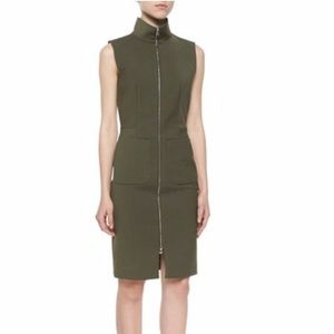 L'Agence military green dress. Size 0. Worn once.